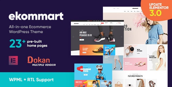 Ekommart All In One Ecommerce Wordpress Theme Gpl Digital